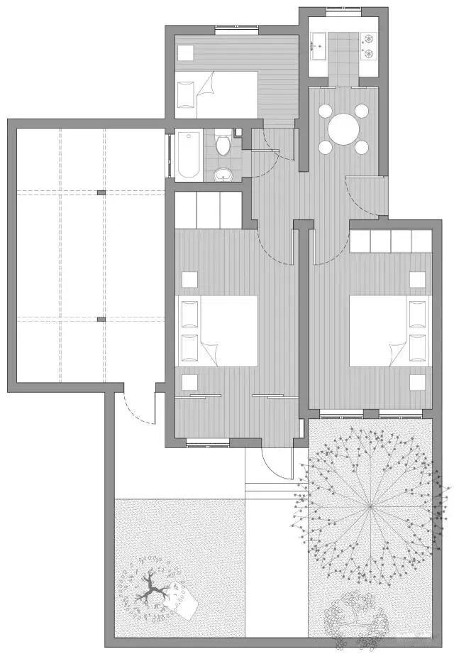 58平也能打造中式庭院?这个效果太美了