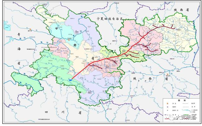 白龙江引水工程示意图(图片来自甘肃省水利厅)