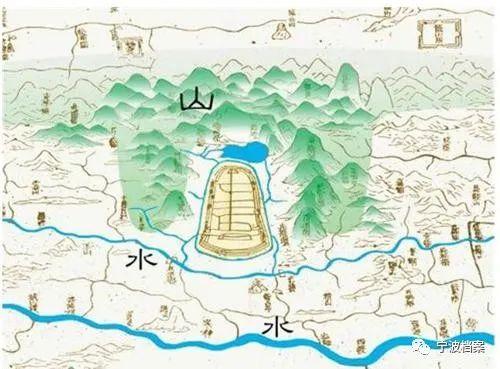 △古慈城山水图