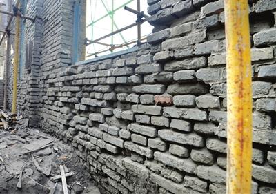 轮机厂房内墙墙体
