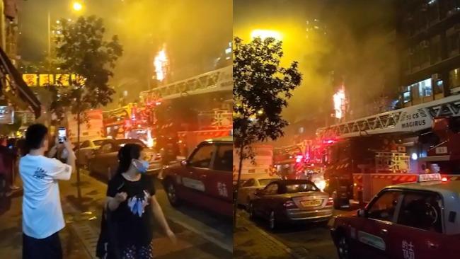 香港油麻地火灾已致8死 官方:门口起火致死伤者无法逃生