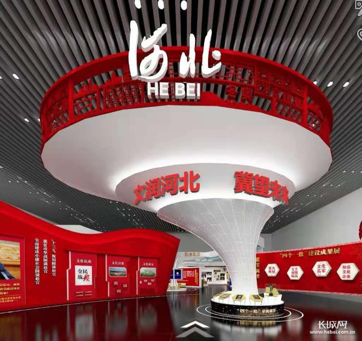 深圳文博会河北展区门头。