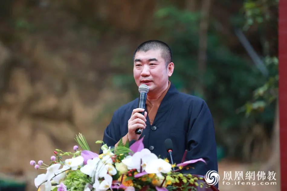 中国佛教协会副会长湛如法师致辞(图片来源:凤凰网佛教)