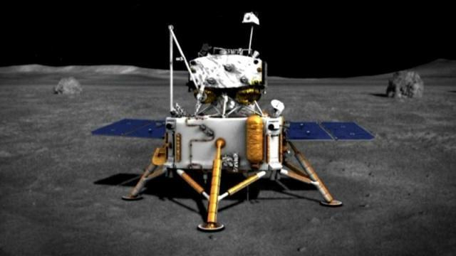 """""""嫦娥五号""""登月设想图"""