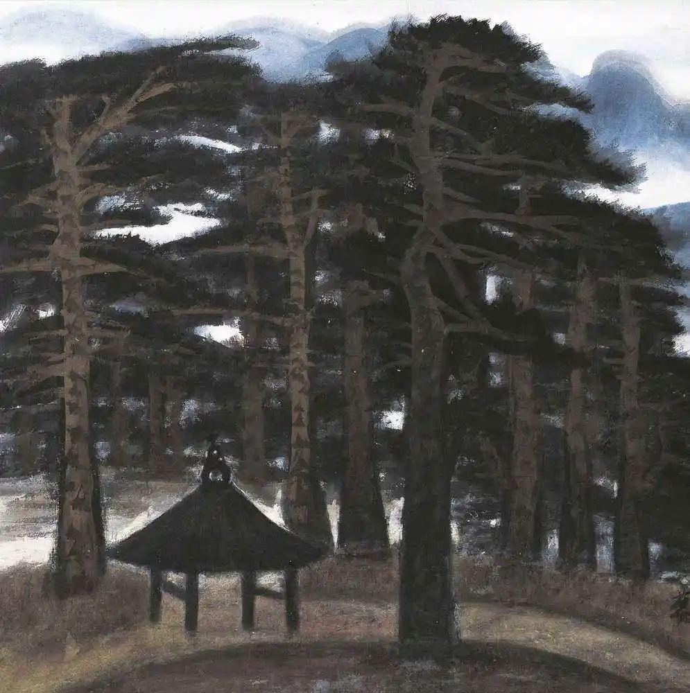 林风眠, 《黑松林 》