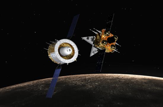 嫦娥五号飞行示意图。(图片来源:国家航天局)