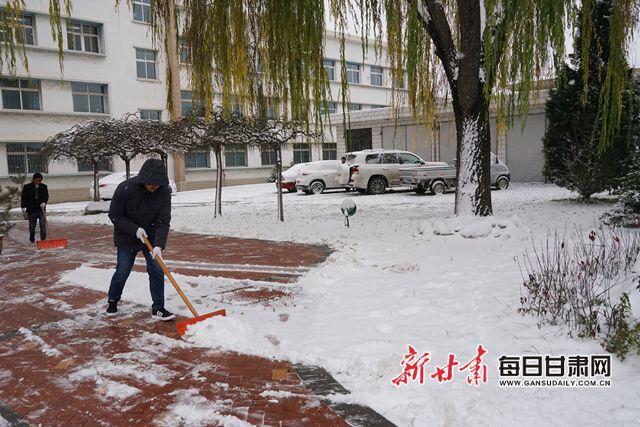 11月20日夜至21日白天,临夏州临夏市迎来明显降雪。许显鑫 马玉坤 罗鹏斌 摄