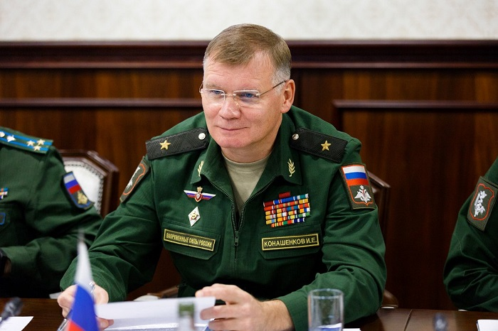 △俄国防部新闻发言人科纳申科夫 网图