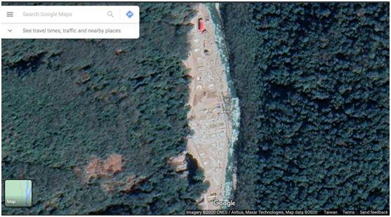 图:谷歌卫星地图显示的庞达村