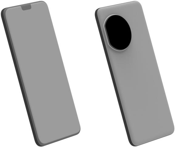 华为P50 Pro渲染图曝光:液态镜头、四曲面屏很吸睛