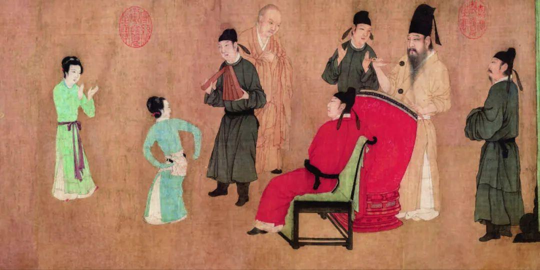 《韩熙载夜宴图》第二段
