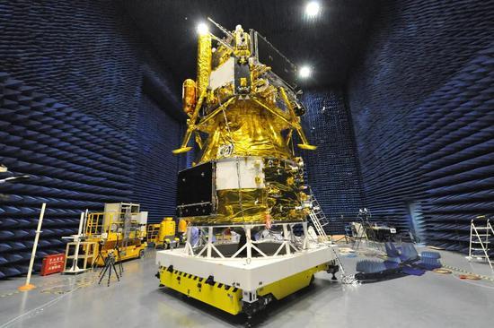 嫦娥五号探测器。(图片来源:中国航天科技集团)