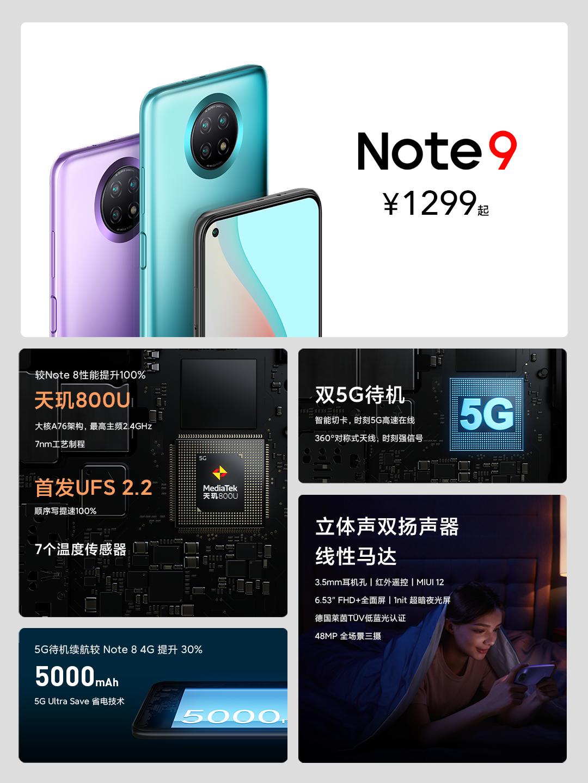 Redmi发布Note 9系列三款手机 售价覆盖999元至1599元插图(1)