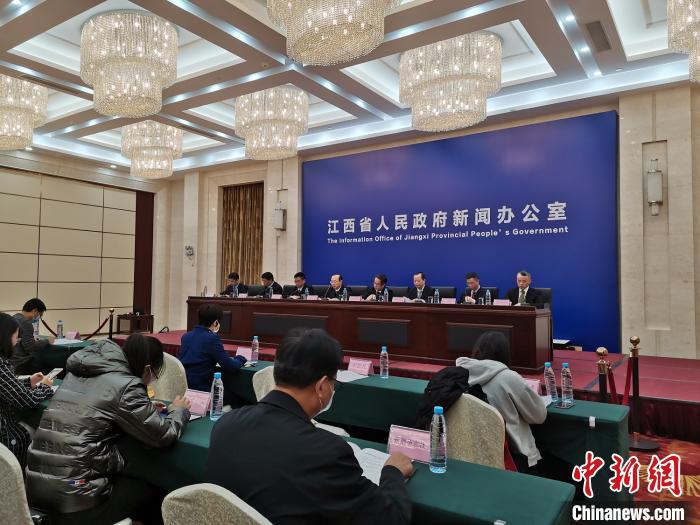 11月26日,江西省国家生态文明试验区建设新闻发布会举行。 张莹 摄