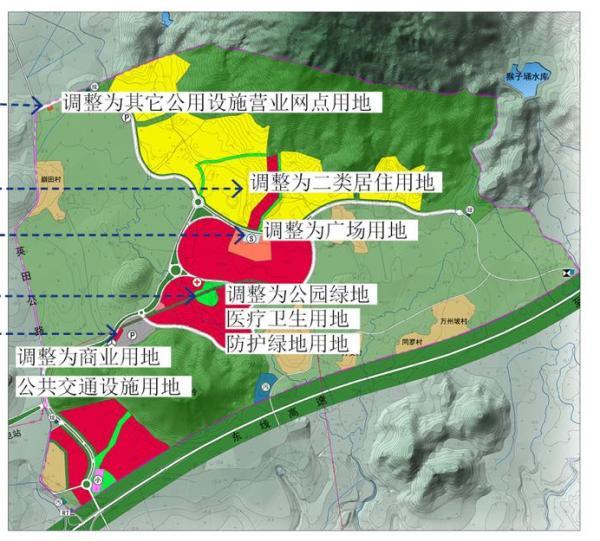 原控规,黄色区域为居住用地。