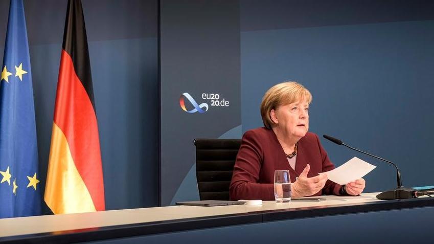 默克尔22日出席二十国集团峰会视频会议
