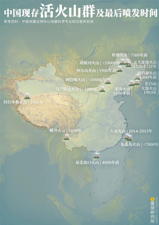 中国的火山在哪里?