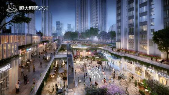 广州首个地下4层立体交通枢纽商业效果图