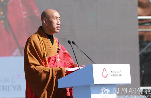中国佛教协会副会长怡藏法师(图片来源:凤凰网佛教)