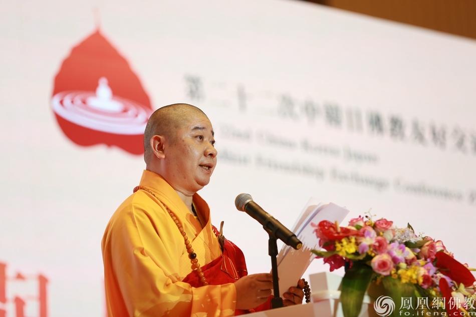 中国佛教协会副会长则悟法师(图片来源:凤凰网佛教 摄影:徐上杰)