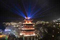 铅山葛仙村:美丽灯光秀犹如漫天繁星