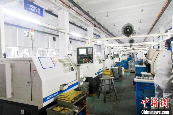 浙江台州一民营企业生产车间。台州发布供图