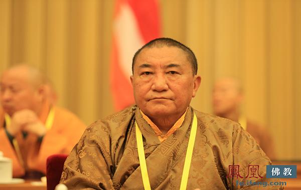 中国佛教协会副会长珠康·土登克珠(图片来源:凤凰网佛教)