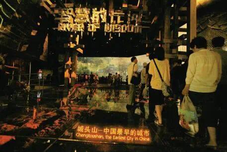 上海世博会中国展馆城头山模型