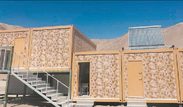中国在中印边境高原地区建设的保暖营房