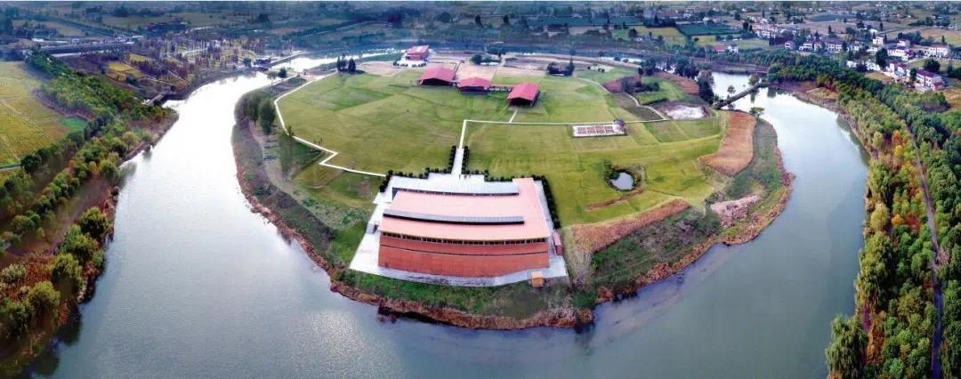 城头山国家考古遗址公园(局部)鸟瞰图
