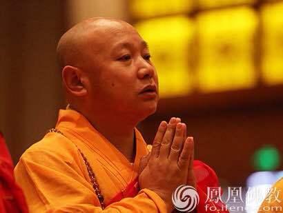 中国佛教协会副会长静波法师(图片来源:凤凰网佛教)