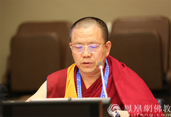 中国佛教协会副会长胡雪峰(图片来源:凤凰网佛教 摄影:李保华)
