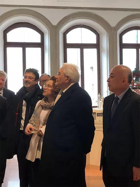意大利总统塞尔吉奥·马塔雷拉(Sergio Mattarella)一行参观展览