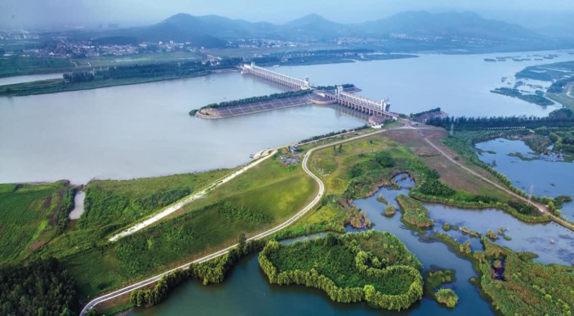 淮河蚌埠闸景区风光秀丽