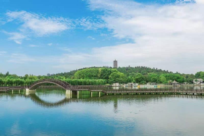 张公湖景色怡人。