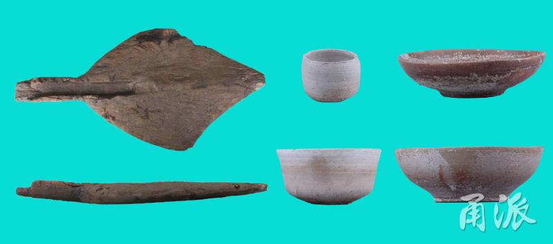 东门村遗址出土春秋战国木器和原始瓷器.jpg