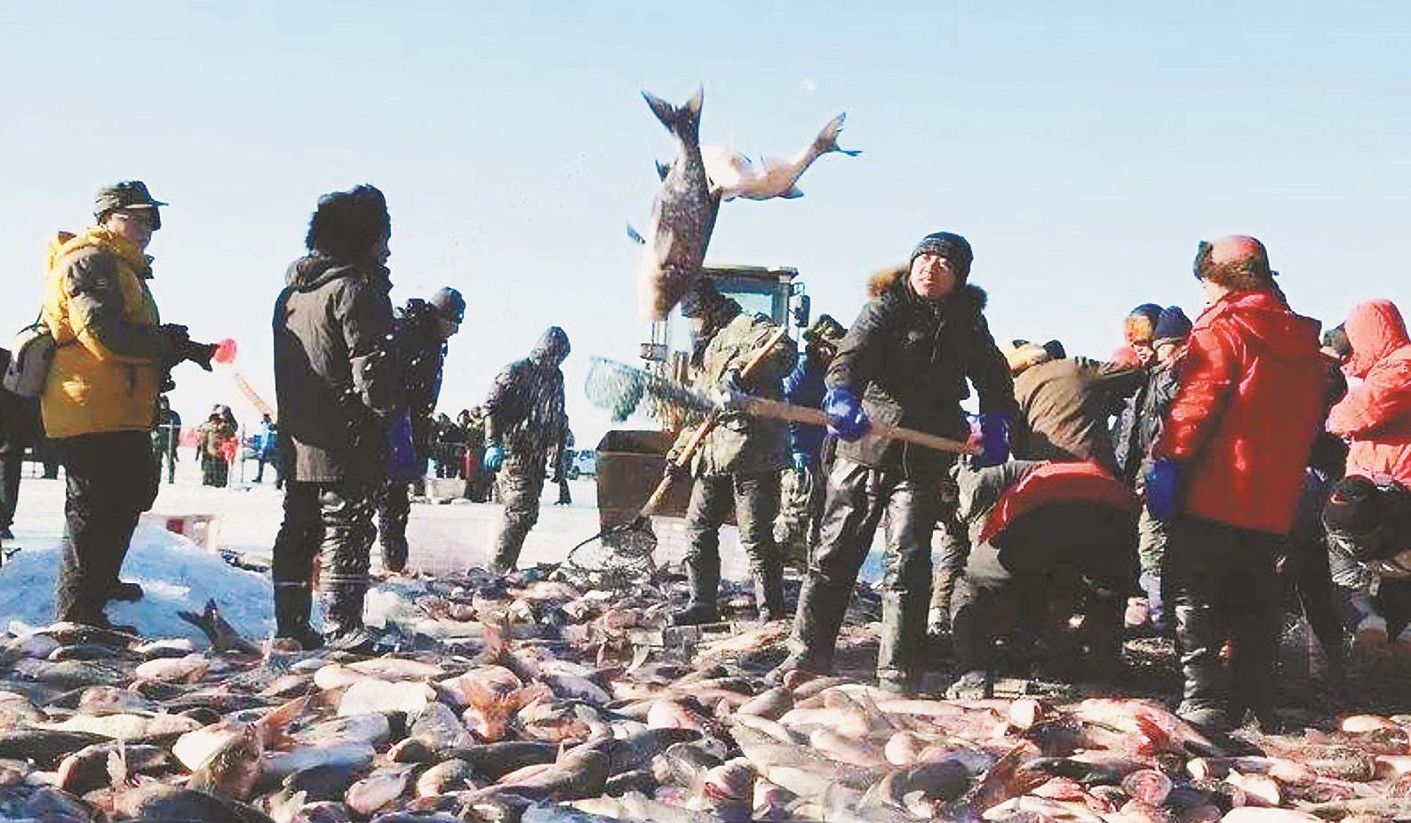 长岭湖冬捕冰钓旅游节
