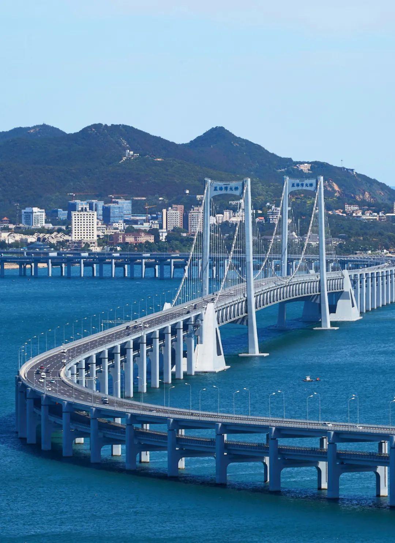 ▲ 大连星海湾大桥。摄影/沙琨