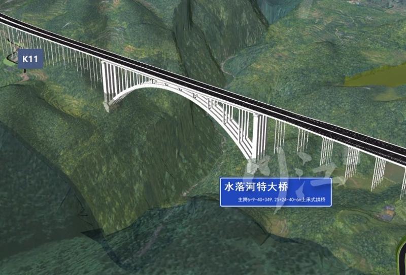 古金高速四川段建设全面铺开,世界最长跨径悬浇拱桥动工