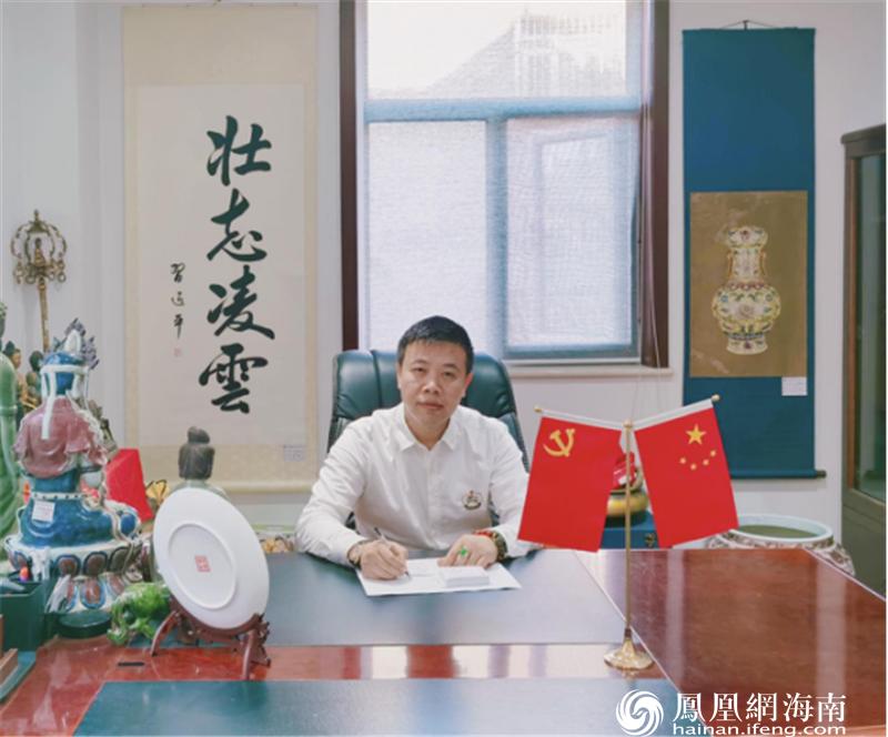 (图为民族文物传承发展中心主任、中溯国际拍卖有限公司董事长郭骥)