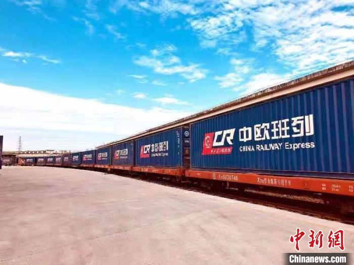 2020年大湾区共开行中欧班列262列,运送民生和产业链物资逾14万吨。广铁集团 供图