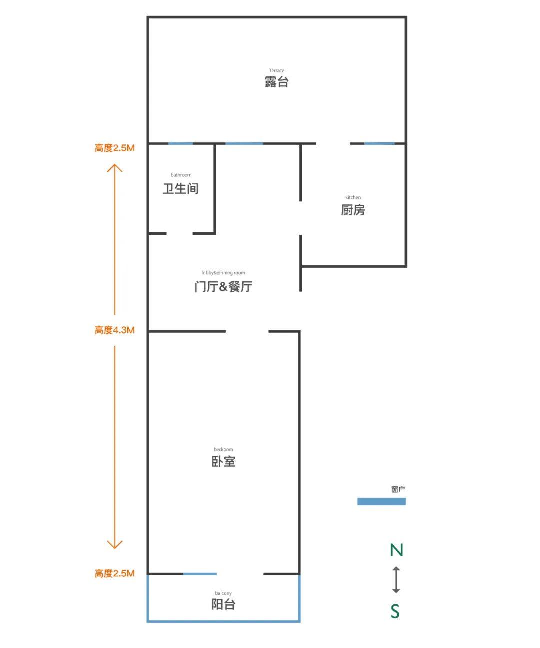 改造女王将40m²改出两室一厅,甚至还有20m²大露台?