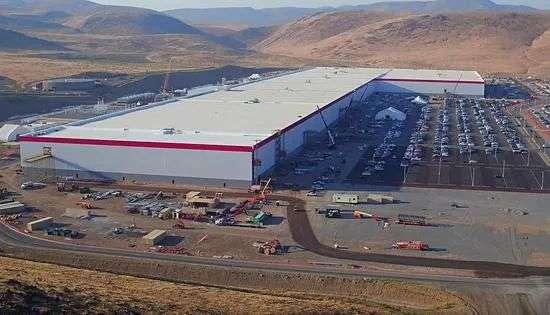 特斯拉内华达州电池超级工厂,图源特斯拉官微