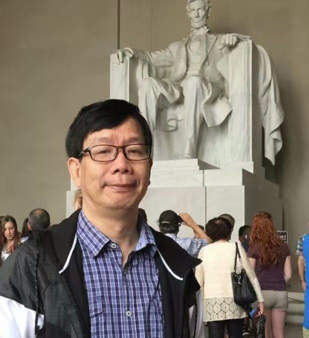 山水田园画派中国画家林敦席在华盛顿林肯纪念堂