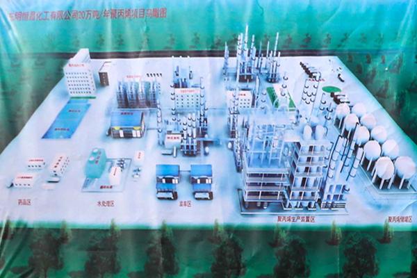 东明恒昌20万吨/年高端聚丙烯项目鸟瞰图
