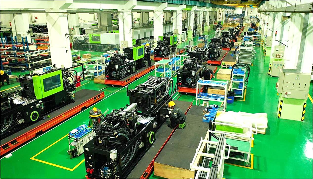 伊之密每个月的注塑机产量能够达到1000台