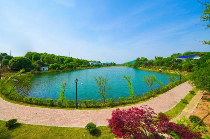 仙人市村长塘乡村公园全景。