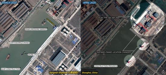 外媒对江南造船厂卫星照片的分析