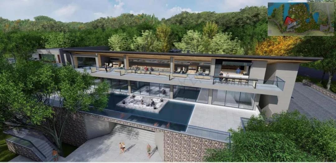 """西樵山民宿核心区项目规划""""一条中心轴、两条景观带、联结一园二村三景"""",建成可提供120个床位,预计2022年12月底可完工。"""