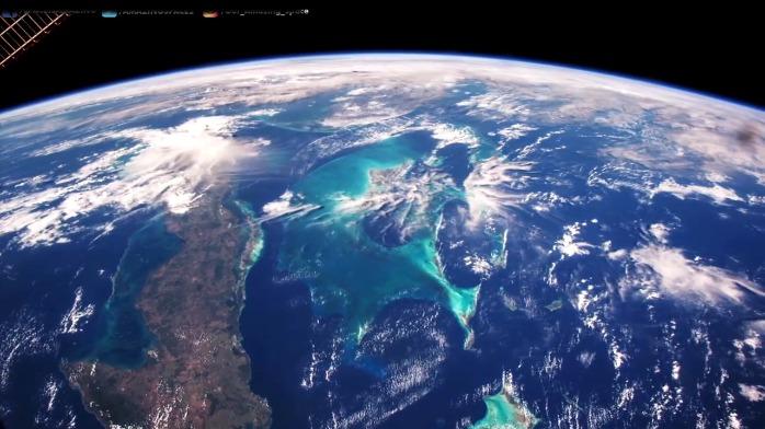 从国际空间站看到的古巴,巴哈马,牙买加
